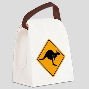 Kangaroo Sign A2 copy Canvas Lunch Bag