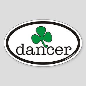 Irish Dancer Euro Oval Sticker