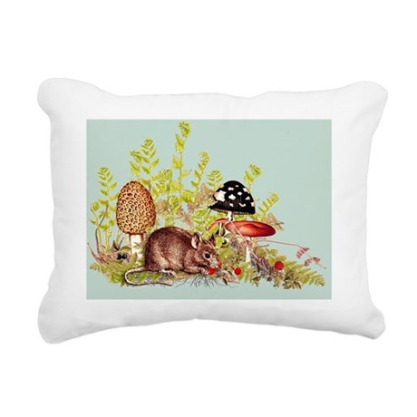 Woodland Mouse - Fabric Rectangular Canvas Pillow