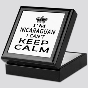 I Am Nicaraguan I Can Not Keep Calm Keepsake Box
