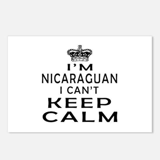 I Am Nicaraguan I Can Not Keep Calm Postcards (Pac