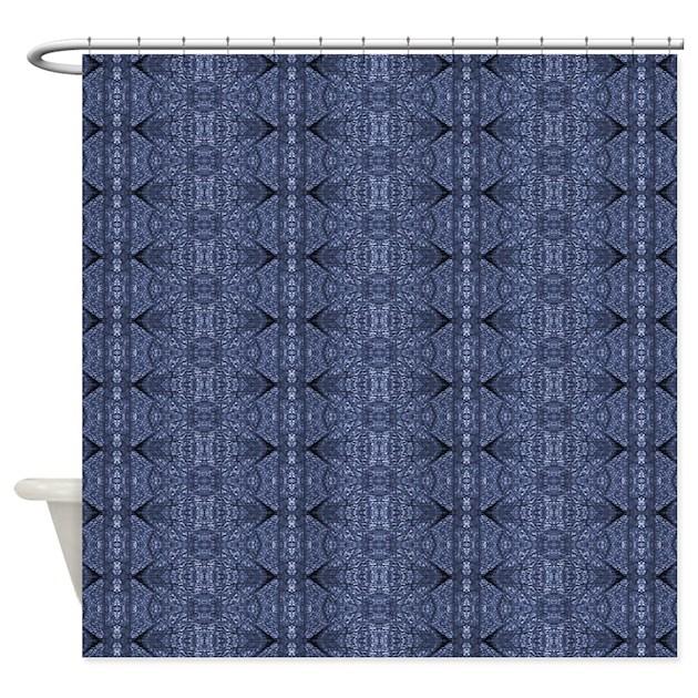 Blue Denim Shower Curtain By Fan2fan