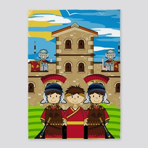 Roman Poster 2 5'x7'Area Rug