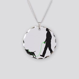 Miniature-Bull-Terrier34 Necklace Circle Charm