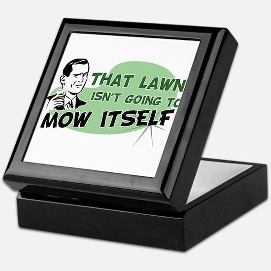Lawn Won't Mow Itself Keepsake Box