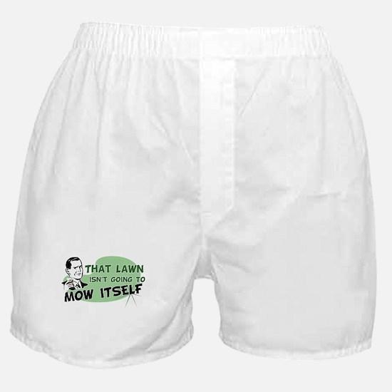 Lawn Won't Mow Itself Boxer Shorts