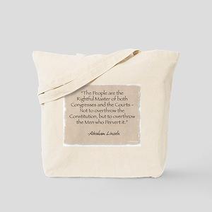 Tote Bag: Lincoln-Rightful Master