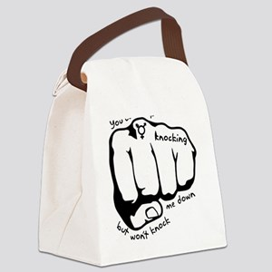 knocking Canvas Lunch Bag