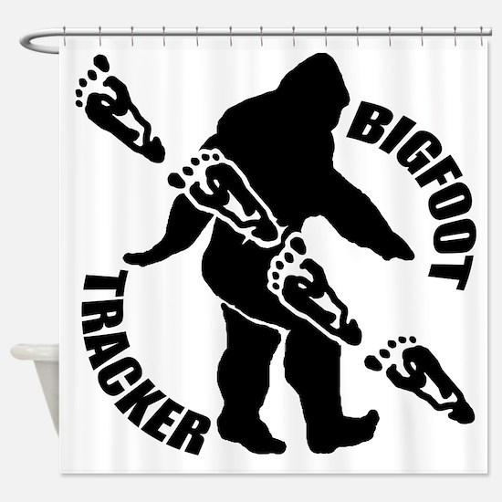 Bigfoot tracker Shower Curtain
