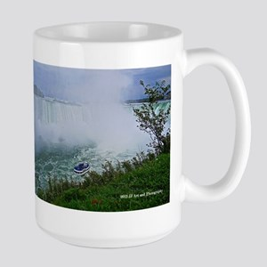 Horseshoe Falls And Boat Large Mug