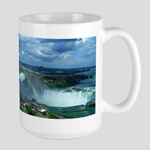 Niagara Falls And Rainbow Large Mug