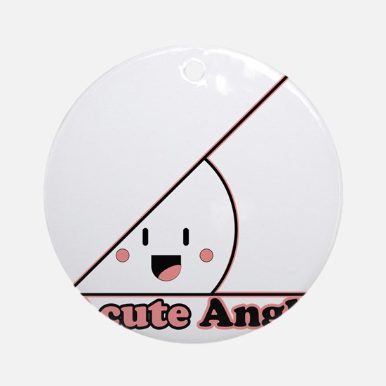 a cute angle Round Ornament