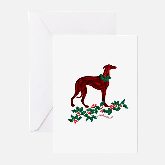 Sighthound Holly Cards Greeting Cards