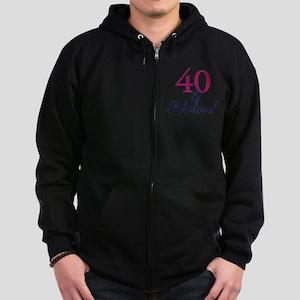 40 and fabulous Zip Hoodie (dark)