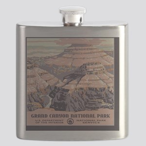 2-square_grand-canyon-wpa-vintage_01 Flask