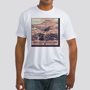 2-square_grand-canyon-wpa-vintage_0 Fitted T-Shirt