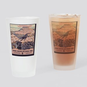 2-square_grand-canyon-wpa-vintage_0 Drinking Glass
