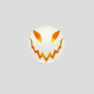 Evil Pumpkin smile Mini Button