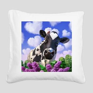 Bovinity Square Canvas Pillow
