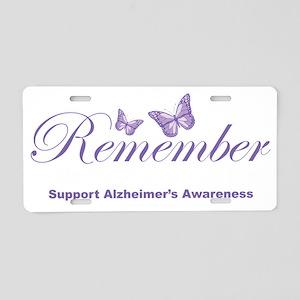 Remember-Alzheimers-2009-bl Aluminum License Plate