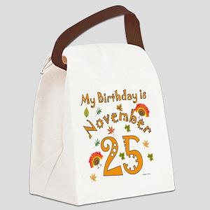 Thanksgiving Birthday Nov 25 Canvas Lunch Bag