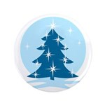 "Blue Christmas Tree 3.5"" Button (100 pack)"