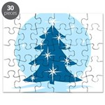 Blue Christmas Tree Puzzle