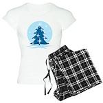 Blue Christmas Tree Women's Light Pajamas