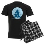 Blue Christmas Tree Men's Dark Pajamas