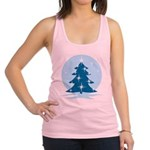 Blue Christmas Tree Racerback Tank Top