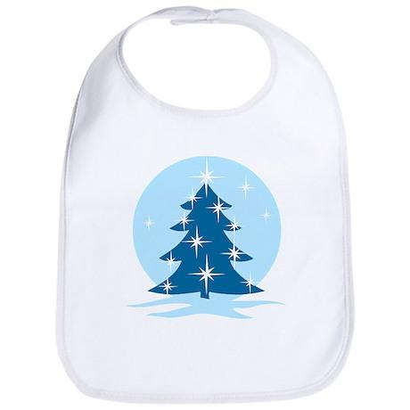 Blue Christmas Tree Bib