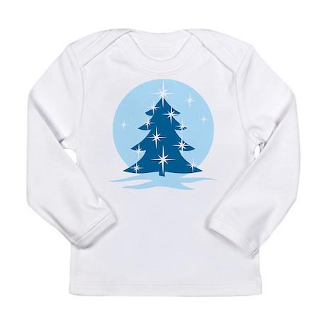 Blue Christmas Tree Long Sleeve Infant T-Shirt