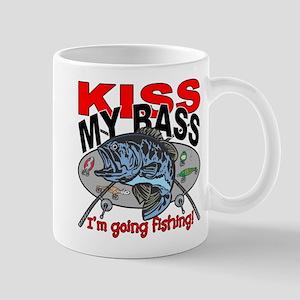 Kiss My Bass, I'm Going Fishing Mug