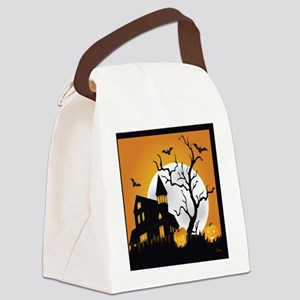 Halloween Haunting Canvas Lunch Bag