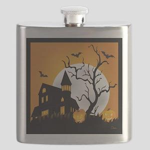 Halloween Haunting Flask