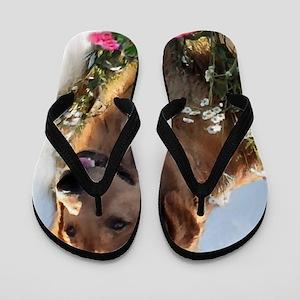 Golden Retriever Art Flip Flops