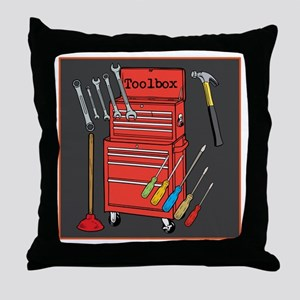 Colorful Toolbox Throw Pillow