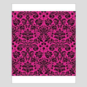 Hot pink and black damask Poster Design