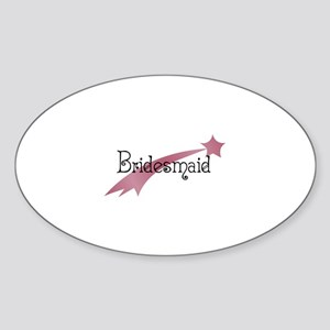 Bridesmaid - Shooting Star Oval Sticker