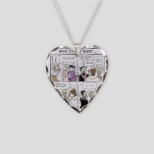 Zombie Wedding Necklace Heart Charm
