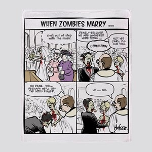 Zombie Wedding Throw Blanket