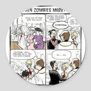Zombie Wedding Round Car Magnet