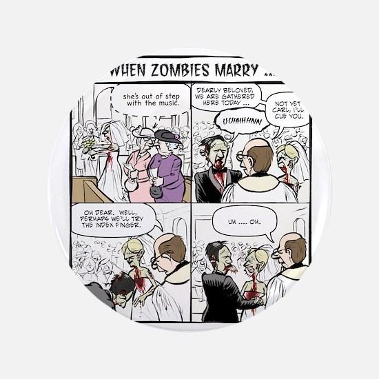"Zombie Wedding 3.5"" Button"
