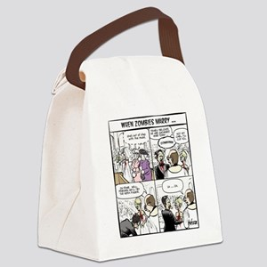 Zombie Wedding Canvas Lunch Bag