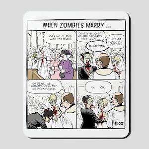 Zombie Wedding Mousepad