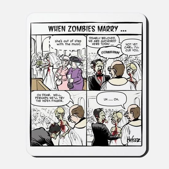 Zombie Wedding Mousepad