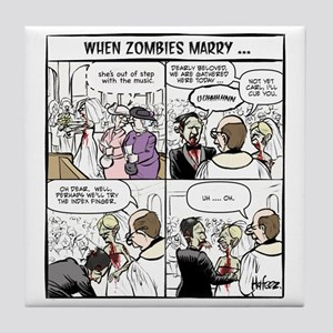 Zombie Wedding Tile Coaster