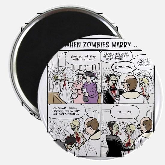 Zombie Wedding Magnet