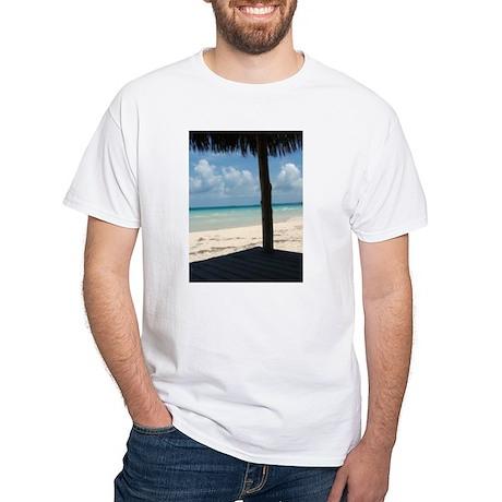 Ten Bay Beach Hut White T-Shirt