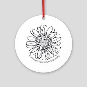2-girls-daisy-gray Round Ornament